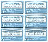 Dr. Bronner's Pure-Castile Bar Soap - Baby Unscented, 5 oz (6 Pack)