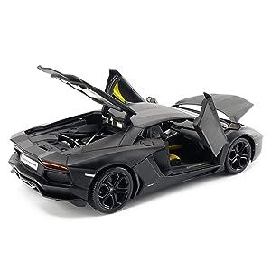 FLYSXP Model Car Aventador LP700-4 Model 1:18 Simulation Die-cast Alloy Toy Car Model Car Model (Color : Black) (Color: Black)