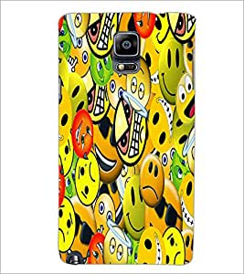 PrintDhaba Emoticons D-5581 Back Case Cover for SAMSUNG GALAXY NOTE 3 (Multi-Coloured)