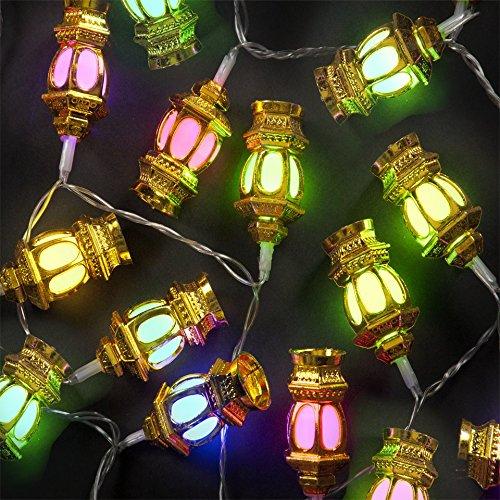 A2Z, 9Metre Fancy Lantern Shape LED Rice Light (38 Bulbs) And FREE 1 HAND Shape LED Light KEY For Diwali light Decoration