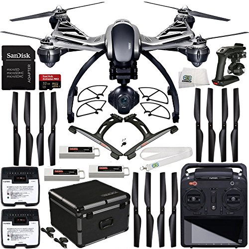 YUNEEC-Q500-4K-Typhoon-Quadcopter-with-CGO3-GB-Camera-RTF-32GB-Bundle-Includes-3-YUNEEC-5400mAh-3S-LiPo-Flight-Batteries-SanDisk-Extreme-PRO-32GB-UHS-IU3-Micro-SDHC-Memory-Card-SDSDQXP-032G-G46A-Memor