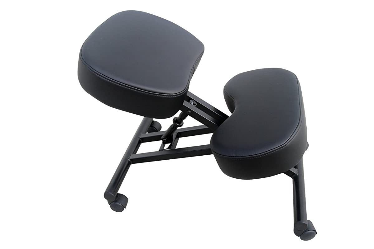 Ergonomic Kneeling Chair by Comfort Designs | Posture Chair Extra Soft Padding Adjustable Office Kneeling Chair | Ergonomic Kneeling Chair for Health and Posture | Warranty Included (Faux Leather)