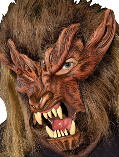 Lone Wolf Werewolf Beast Monster Scary Latex Adult Halloween Costume Mask