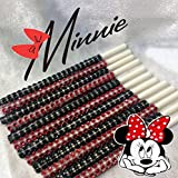 Disney Minnie Mouse Inspired Specialty Bling Cake Pop Sticks - Red & Black Glam for Lollipops, Cake Pops and All Things Party - Bling Sticks 6 15.2 Cm - 12 Ct Set