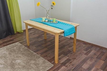 Tisch 130x80 cm Kiefer massiv, Farbe: Natur