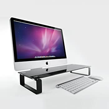 Eutuxia Tempered-Glass Monitor Stand