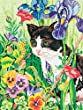 Dimensions Needlecrafts Paintworks/Pencil by Number, Kitty In Flowers