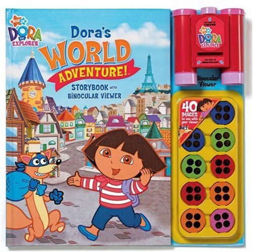 Nick Jr Dora'S World Adventures Storybook And Binocular Viewer (Dora The Explorer (Reader'S Digest))