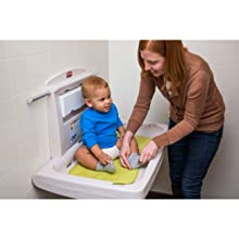 Rubbermaid Commercial FG781888 PLAT Horizontal Baby Changing Station, Light Platinum