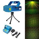 【レーザーステージライト】(グリーン&レッド イルミネーション/照明マシン)(LED DISCO DJ ミニポータブルレーザーライト / ディスコライト・照明・演出/ 舞台照明