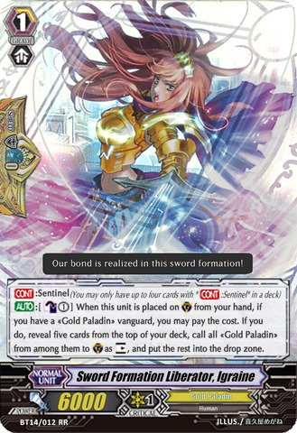Cardfight!! Vanguard Tcg - Sword Formation Liberator, Igraine (Bt14/012En) - Booster Set 14: Brilliant Strike front-645512