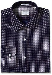 Arrow Men's Formal Shirt (8907378522276_ASSF0288_42_Dark Blue)