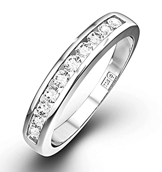 TheDiamondStore | Rae Half Eternity Ring - Premium Quality Diamonds 0.20ct - 9K White Gold