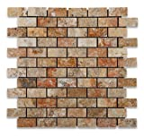 Scabos 1X2 Skilful Travertine Brick Mosaic Tile