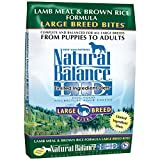 Natural Balance Dry Dog Food Limited Ingredient Diet for Large Breeds, Lamb Meal and Rice, 28 Pound Bag
