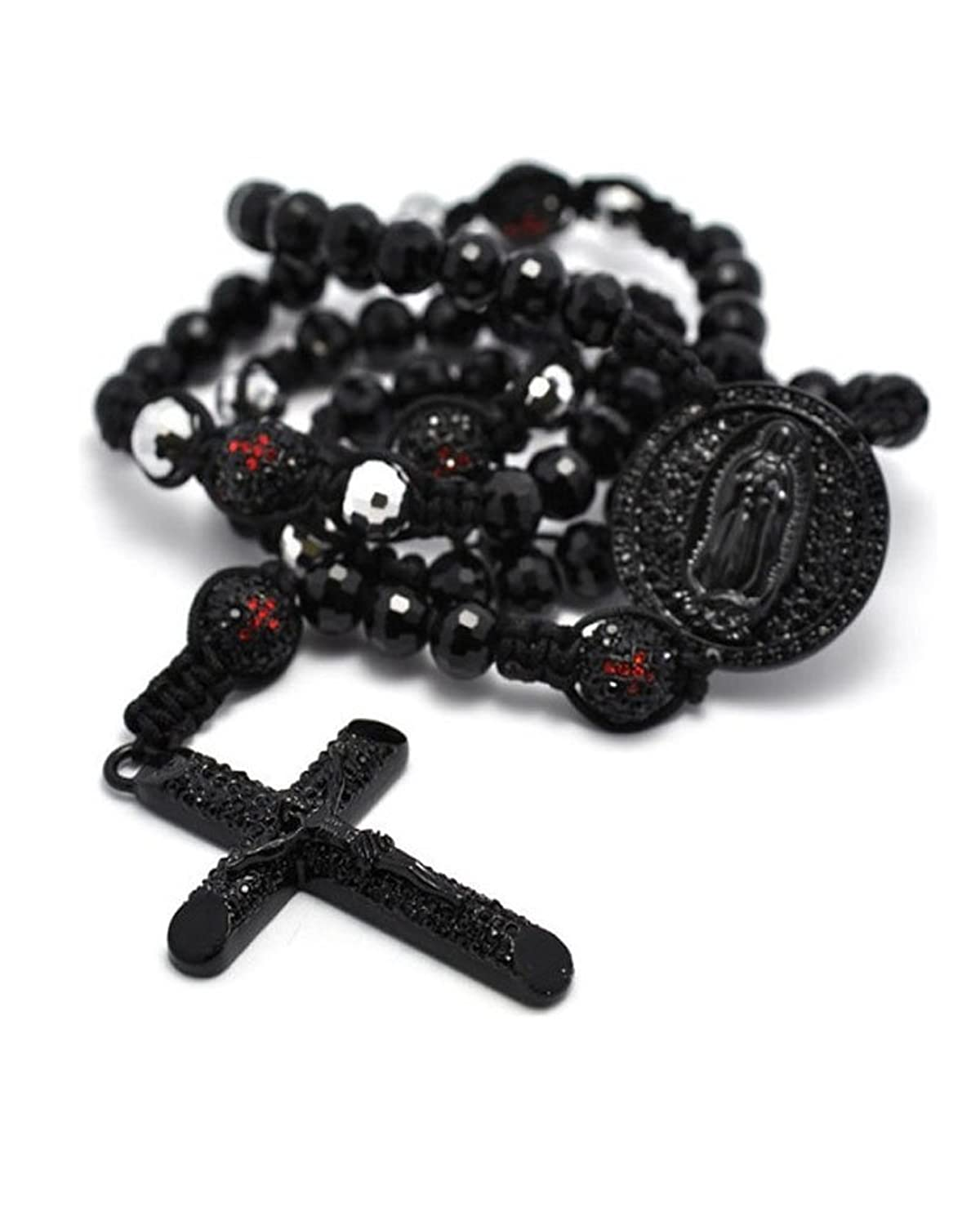 Rosary Cross Necklaces For Men Beads Cross Rosary Men