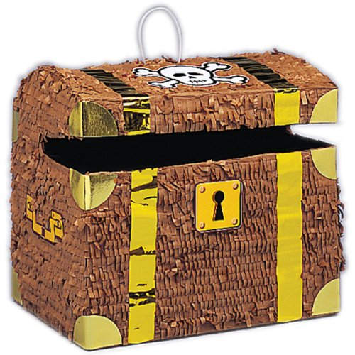 """Standard Pinatas-Treasure Chest 10-1/2""""X12""""X9"""" *** Product Description: Standard Pinatas-Treasure Chest 10-1/2""""X12""""X9"""". Unique-Pinata. These Pinatas Are Fantastic For Parties; Reunions; Bbqs Or Just As Decorations! Each Pinata Holds Enough Treats ***"""