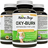 Thermogenic Fat Burner For Men and Women - 60 Capsules - Unique Blend for Effective Weight Loss - Boosts Metabolism - Increases Energy - Fast-acting and 100% Natural - Oxy-Burn by Natures Design