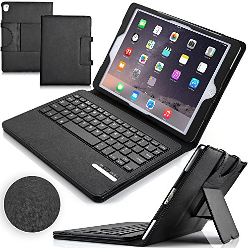 F.G.S iPad Pro 9.7 キーボード ケース [US配列対応] 超薄型 ipad pro 9.7インチ キーボード 良質PUレザーケース付き ipad pro 9.7 bluetooth キーボード スタンド機能/自動スリープ機能付き 日本語取扱説明書付き F.G.S並行輸入品