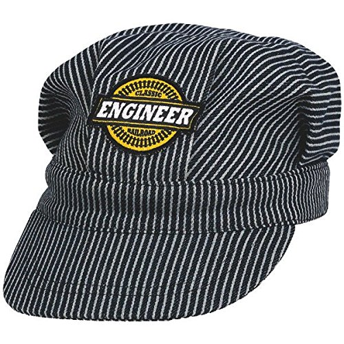 "Amscan Deluxe Railroad Engineer Party Hat, 5 x 6.5"", Black/White - 1"