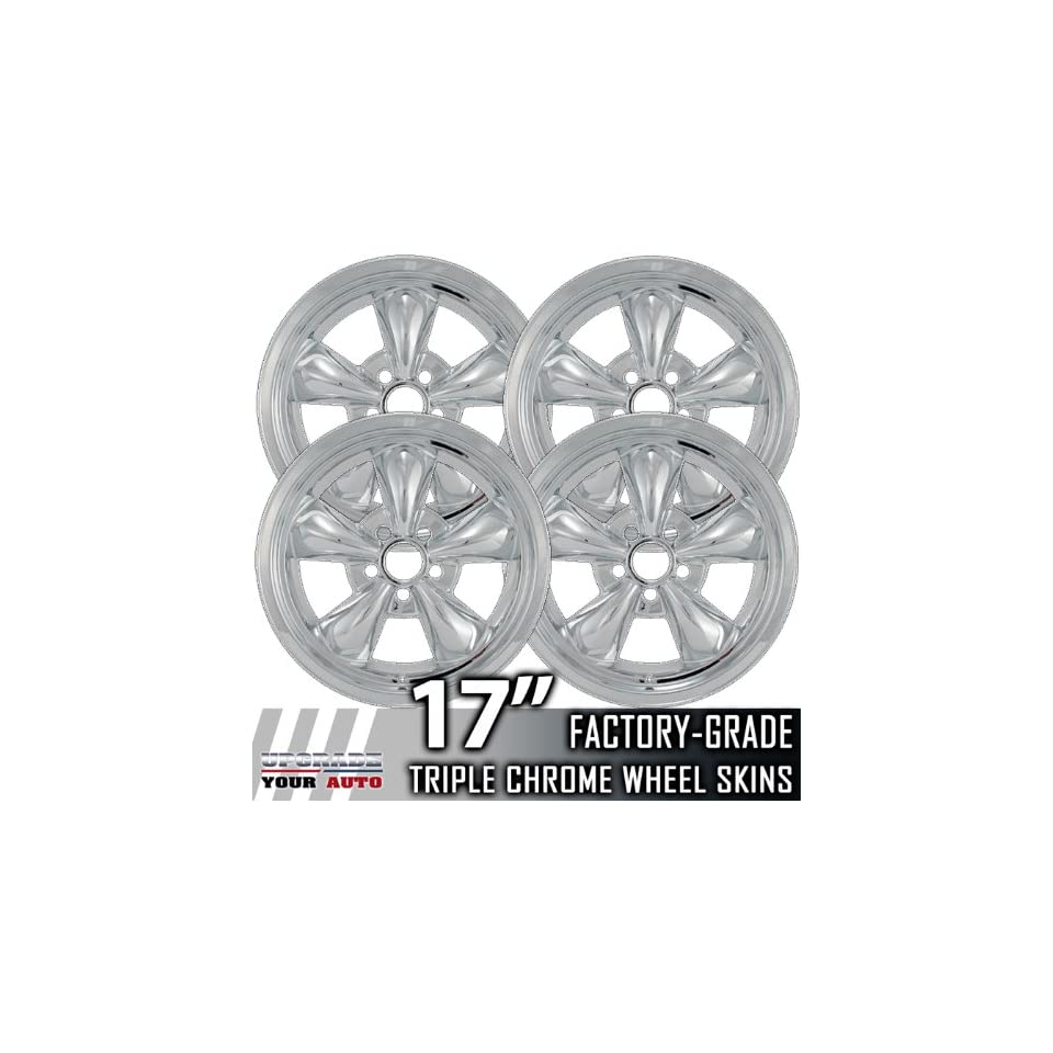 94 04 FORD MUSTANG 17 Chrome Wheel Skin Covers Automotive