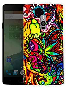 """Humor Gang Trippy Grass Cannabis ArtPrinted Designer Mobile Back Cover For """"OnePlus Two"""" (3D, Matte, Premium Quality Snap On Case)..."""