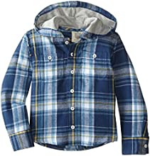 Wes amp Willy Little Boys39 Hooded Plaid Shirt