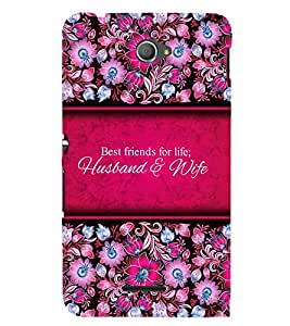 Best Friends Of Life 3D Hard Polycarbonate Designer Back Case Cover for Sony Xperia E4 Dual :: Sony Xperia E4