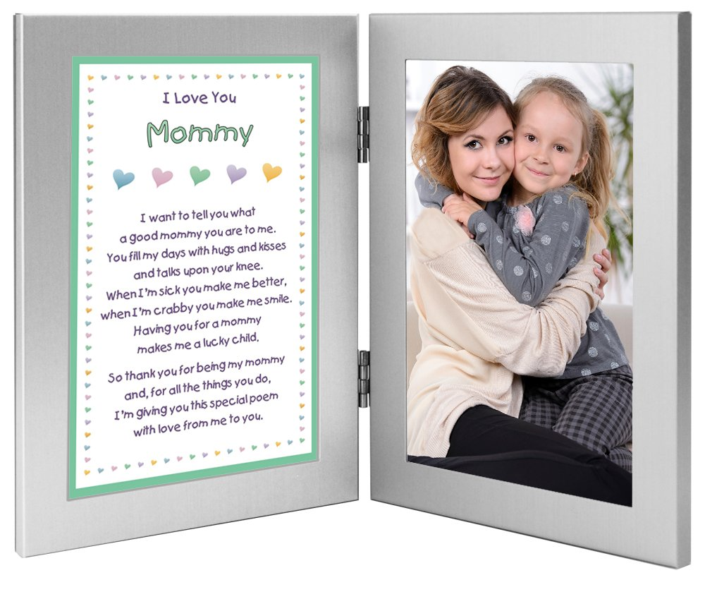 Mommy Gift From Son or Daughter – Sweet Mother's Day or Birthday Poem in Double Frame – Add Photo