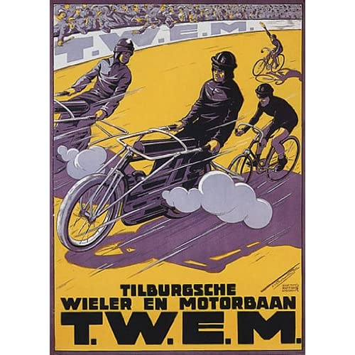 BICYCLE BIKE CYCLES MOTORCYCLE VINTAGE POSTER CANVAS REPRO