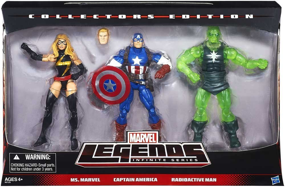 Marvel Legends Infinite Collectors Edition 3 Pack Ms. Marvel, Captain America & Radioactive Man bestellen