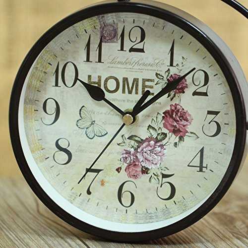 LFX Retro clock retro bicycle gifts clock students study European ornaments 1