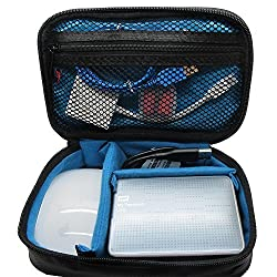 Khanka Universal Portable Electronics Travel Carrying Organizer Case Bag for WD/Toshiba/Seagate Hard Drive/USB Cable/AAXA P300 , P4X , P4-x , P450 , P3-X , ST-200 , P2 , M1 , M2 , LED Showtime Portable Projector and Small Accessories Parts (Small)