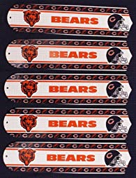 Ceiling Fan Designers 52SET-NFL-CHI NFL Chicago Bears Football 52 In. Ceiling Fan Blades Only