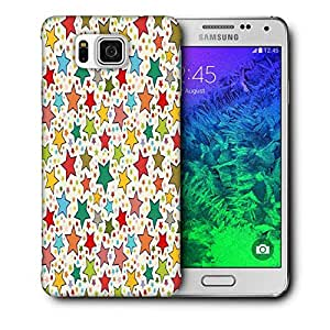 Snoogg Abstract Colorful Stars Printed Protective Phone Back Case Cover For Samsung Galaxy SAMSUNG GALAXY ALPHA