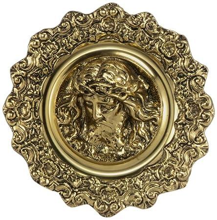 Virtus 1150 - Plato con diseño de Cristo, fabricado en bronce, 27 x 27 cm