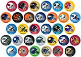 NFL MINI ROUND Helmet Assorted Stickers (32 count)
