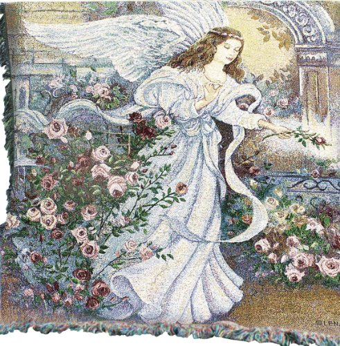 Manual Inspirational Collection 50 X 60-Inch Tapestry Throw, Angel Of Love front-1014714
