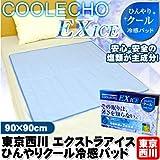 西川 クールエコー エクストラアイス ひんやりクール冷感パッド ハーフサイズ 90×90cm