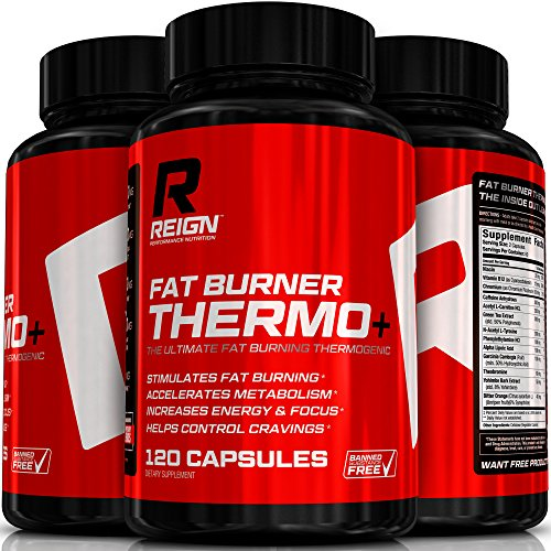 Fat Burner Thermo+ - Powerful Thermogenic for Weight Loss & Energy for Men and Women - Includes Acetly L-Carnitine, Green Coffee, Garcinia & Yohimbine to Increase Metabolism - 120 Vegetable Capsules (Oxy Gel Shake compare prices)