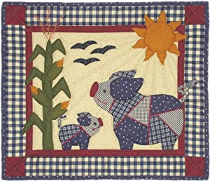 "New - Crazy Pigs Quilt Kit-15""X13 by Rachel's Of Greenfield"