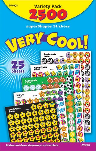 Trend Enterprises Super Spots & Super Shapes Variety Pack, Very Cool! (T-46903)