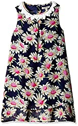 Nauti Nati Girls Dress (NAW16-593_Navy_6Y)