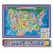 T.S. Shure Pictorial Map of the United States of America - Laminated Poster with Interactive Stickers