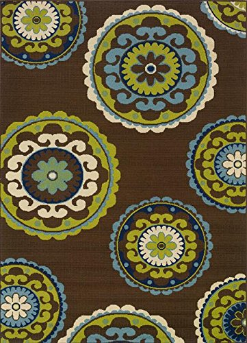 Oriental Weavers Sphinx Caspian Casual Brown Rug - CSP-859D6 (Size: 2' 5