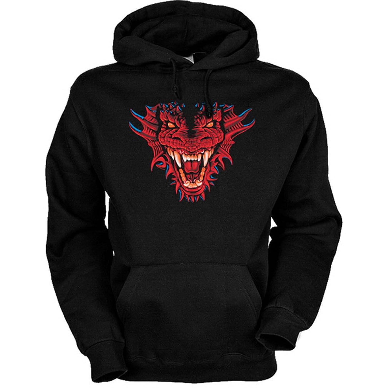 Sweatshirt mit Kapuze – Hoodie Drachen Aufdruck: Dragon Head bestellen