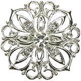 Maaria B's Accessories Silver Brooch Diamante Vintage Flower Shoe Pin Bridal Cake Decoration