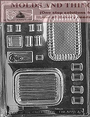 SEWING KIT POUR BOX Chocolate Candy Mold With © Candy Making Instruction - set of 2