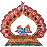Wooden Handy Crafted Hand Painted Wall Hanging With Peacock Design By Shree Sugandh