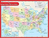 Teacher Created Resources US Map Chart, Multi Color (7657)